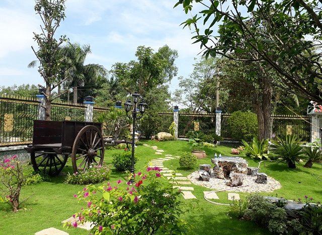 Thiết kế, thi công sân vườn, hồ cá koi
