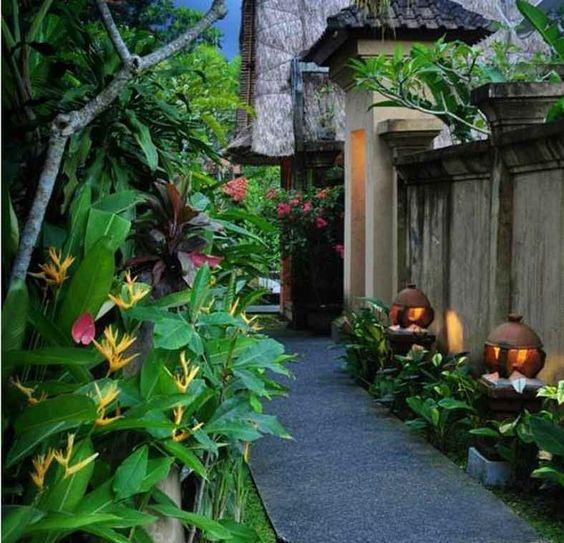 sân vườn nhiệt đới
