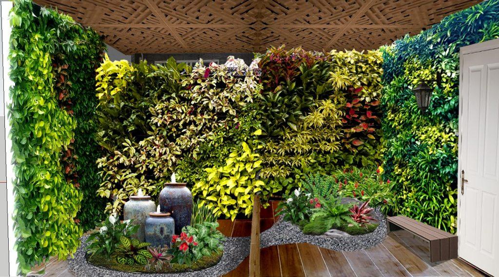 thiết kế trang trí cây xanh, tiểu cảnh nội thất