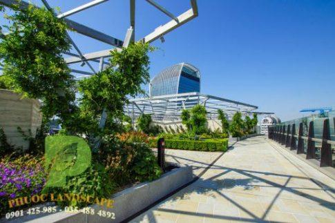 vườn trên mái hiện đại