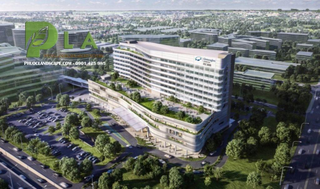 thiết kế thi công cây xanh bệnh viện