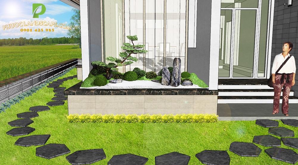 Báo giá thiết kế, thi công sân vườn