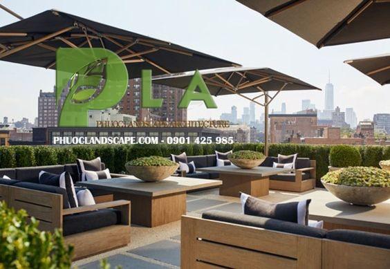 thiết kế thi công vườn trên mái