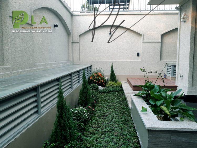Thi công sân vườn hiện đại